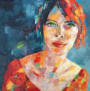 Image Gallery modern oil painting portrait
