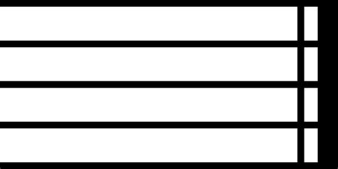 A double bar line shows there is there is a major change in the music, such as a new musical section or new time signature File:Music-endbar.svg - Wiktionary