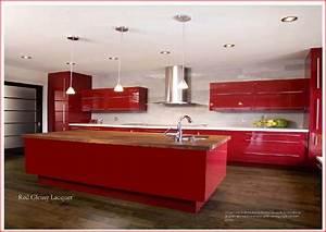 cuisine americaine rouge ikea chaioscom With meuble de cuisine en bois rouge 1 cuisine rouge 10 bonnes raisons de craquer marie claire