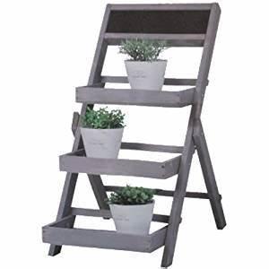 Etagere en bois support de decoration pour fleur et plante for Decoration pour jardin exterieur 3 decoration cuisine nordique