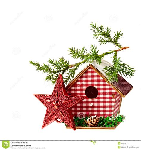 christmas decoration starbirdhouse  branch  spruce
