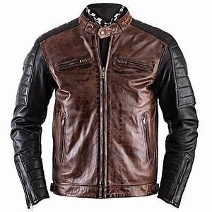 Blouson De Moto : blouson cuir moto vintage cafe racer veste biker homme ~ Medecine-chirurgie-esthetiques.com Avis de Voitures