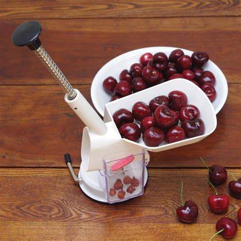 cherries kitchen accessories deluxe cherry pitter kitchen canning supplies stark 2139