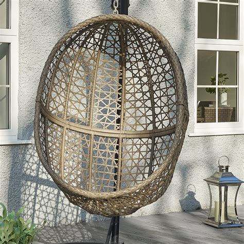hove hanging rattan pod chair with stand p543 3179 image