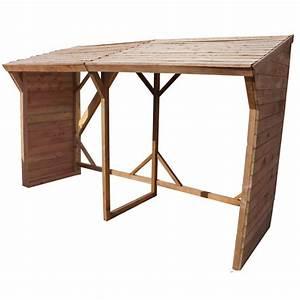 Abris Buches Bois : abri buches en bois autoclave marron 6 5st res gardy shelter ~ Melissatoandfro.com Idées de Décoration