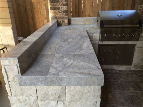 Outdoor Kitchen Tile Countertop Pictures