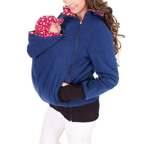 baby carrier sweater maternity polar warm fleece hoodie jumper pullover