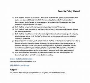 Sample Security Manual Template