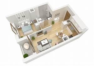 3d, Floor, Plan, Apartment, Flat