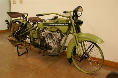 Antique Motorcycle 1924 Harley Jd Battery Model Recent