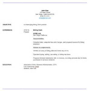 billing clerk resume sle billing clerk resume resume maker resume software