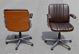 Chaise De Bureau Vintage : chaise bureau cuir vintage table de lit a roulettes ~ Teatrodelosmanantiales.com Idées de Décoration