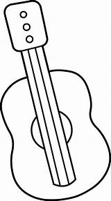 Guitar Clip Outline Clipart Mini Coloring Guitars Printable Cute Cliparts Ukulele Border Library Instrument Musical Clipartpanda Giutar Delusion Clipartmag Line sketch template