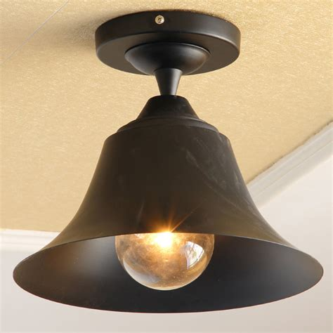 bell shape outdoor ceiling lights vintage classic black