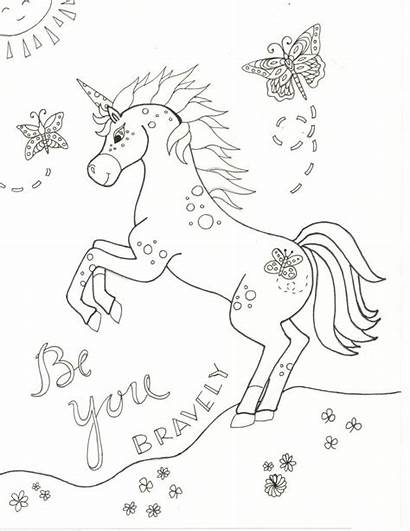Unicorn Coloring Pages Printable Marvelous Bright Among