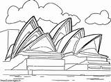Opera Sydney Kunst Kleurplaten Kleurplaat Cultuur Colorear Kultur Operahuis Ausmalbilder Coloring Monuments Colorare Cultura Coloriages Malvorlagen Dibujo Sidney Coloriage Dessin sketch template