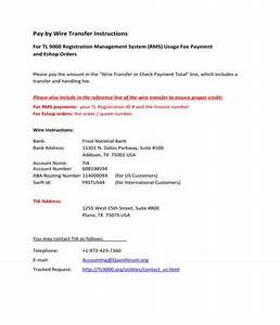 Free 9  Wire Transfer Instruction Forms In Pdf