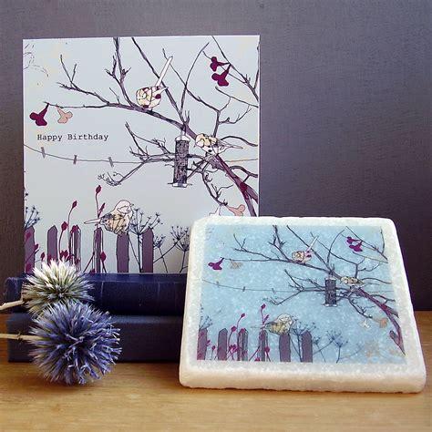 handmade bird design birthday gift set