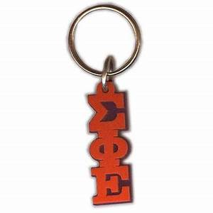 sigma phi epsilon letter keychain greek gear and merchandise With greek letter keychain