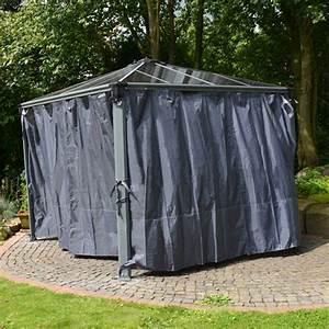 tonnelle trendy tonnelle adosse sydney en acier gris With beautiful rideaux pour tonnelles exterieur 4 tonnelle de jardin bois exotique