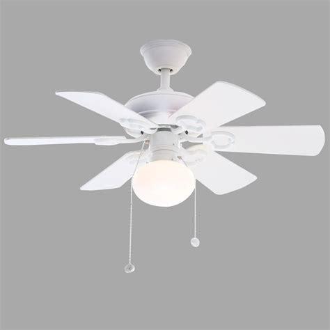 hton bay minuet iii 36 in indoor white ceiling fan