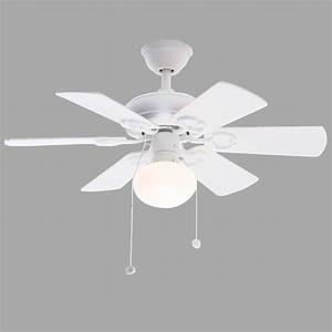 Hampton bay minuet iii in indoor white ceiling fan
