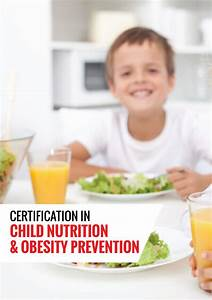 Child Nutrition And Obesity Prevention Certification  U2013 Fitness And Sports Sciences Association