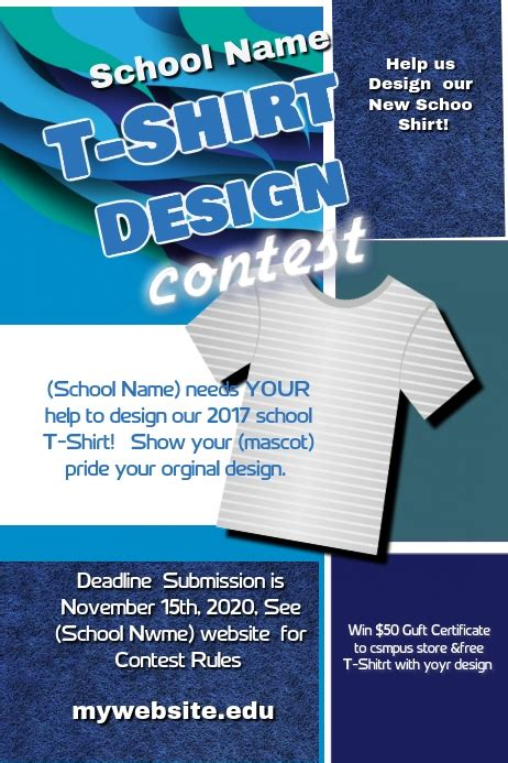 school  shirt design contest template postermywall