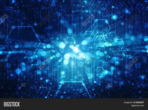 Cyber Background Powerpoint Template Digital Abstract Technology
