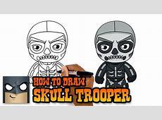 Fortnite How to Draw Skull Trooper Art Tutorial YouTube