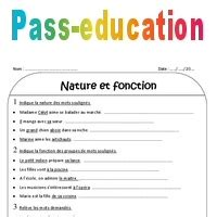 nature  fonction ce exercices corriges pass education