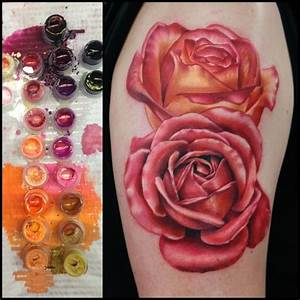 The gallery for --> Peach Roses Tattoo