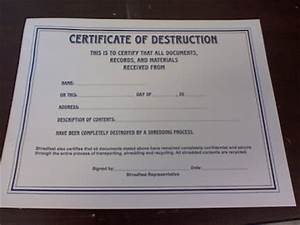 more adventurous certificate of destruction With free certificate of destruction template