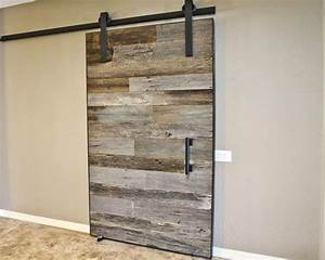 reclaimed wood door o interior and exterior grey reclaimed With porte de douche coulissante avec meuble bois de salle de bain