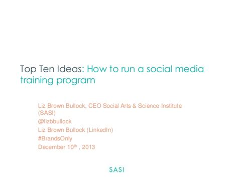 Best Social Media Courses by Top Ten Ideas How To Run A Social Media Program