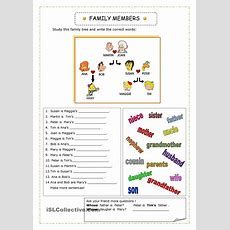 Family  Inglés Niños  Pinterest  English, Worksheets And English Lessons