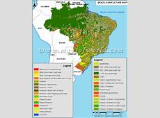 Brazil Agriculture Map