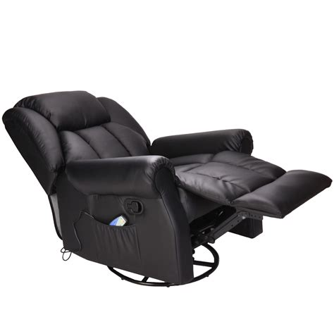 luxury bonded leather swivel rocking recliner chair with