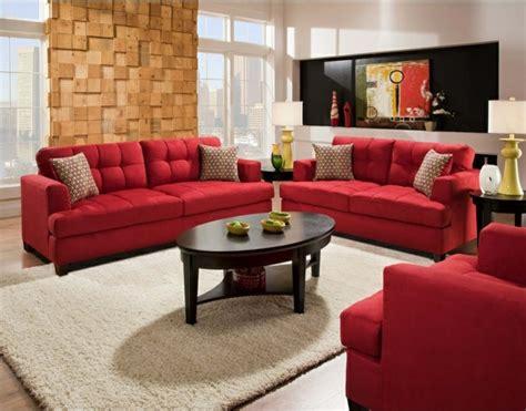 Rotes Sofa Ins Innendesign Einbeziehen