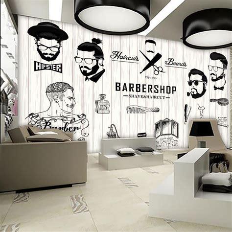 shipping  beauty barber mural salon barber shop