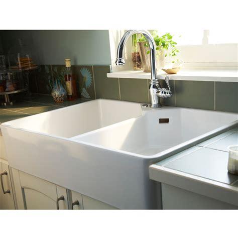 evier cuisine blanc évier à poser grés 2 cuves office blanc castorama 199e cuisine cuisine