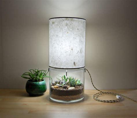 terrarium design terrarium table ls with handmade paper lshade home design and interior