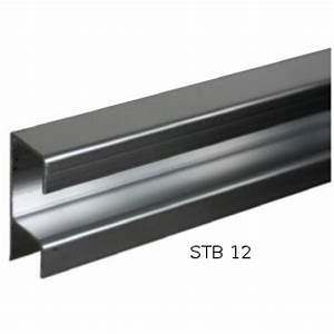 rail bas de guidage pour porte coulissante top line bricozor With rail bas porte coulissante