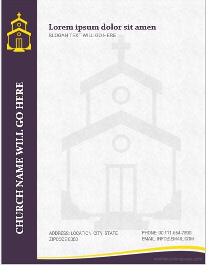 Although there are so many free church letterhead templates to choose from. 5 Best MS Word Church Letterhead Templates   Word & Excel ...