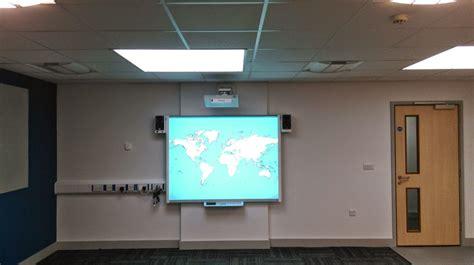 hitachi ultrashort throw projector mounted   wall