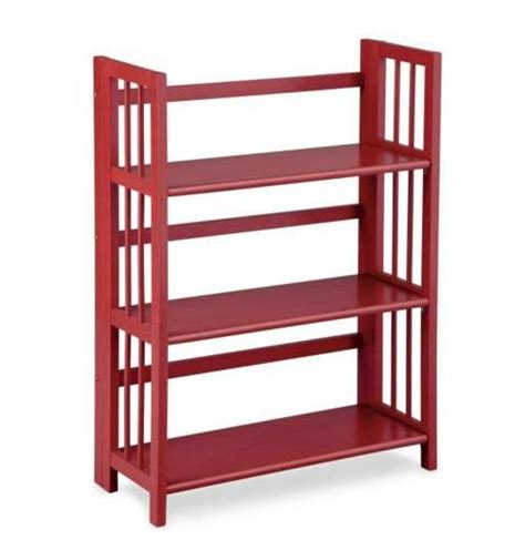 Stackable Folding Bookcase by 3 Tier Stackable Folding Bookcase Bookshelf Storage Shelf