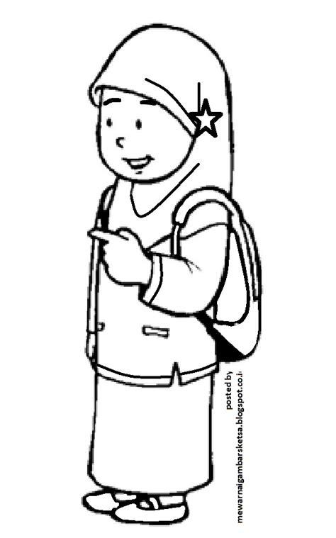mewarnai gambar mewarnai gambar sketsa kartun anak