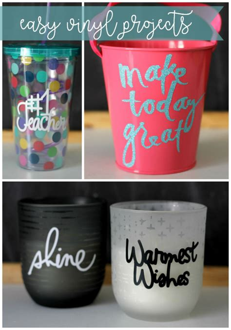 easy vinyl gifts    minutes cricut