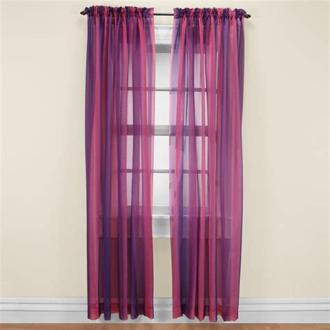 sheer pink purple curtains cafe design ideas
