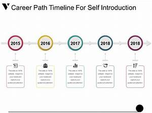Career Path Timeline For Self Introduction Powerpoint